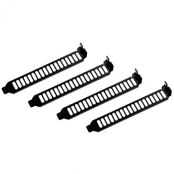 Lot de 4 équerres d'aération pour slot PCI SilverStone Aero Slots noir