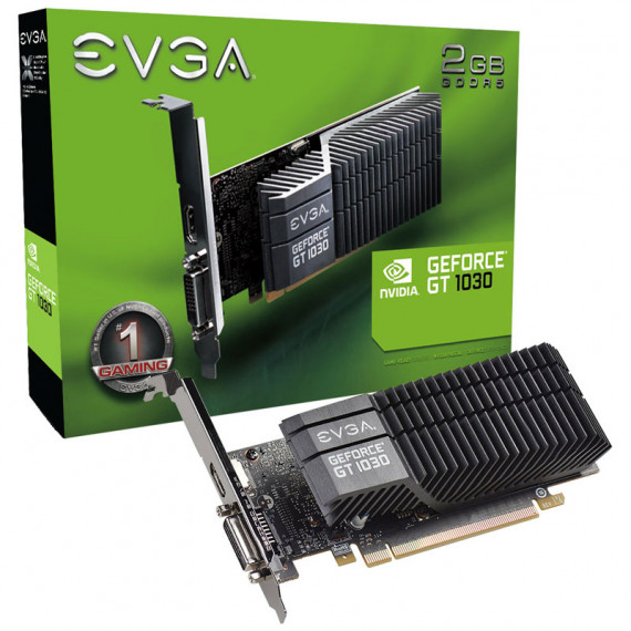 EVGA GeForce GT 1030 SC  2048 Mo GDDR5  profil bas - passif