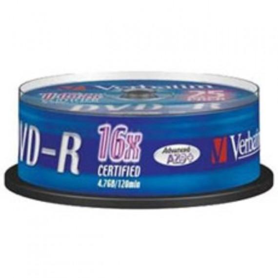 VERBATIM Dvd-r 4.7 Go 16x Spindle De 25