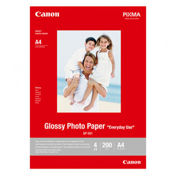 "CANON GP-501 Glossy - Papier Photo Glacé ""usage quotidien"" A4 200 g (20 feuilles)"