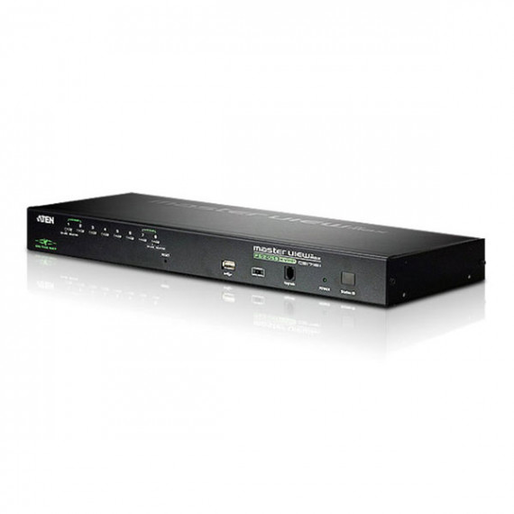 Aten Aten CS1708i - Commutateur KVM over IP VGA USB PS/2 à 8 ports avec port périphérique USB