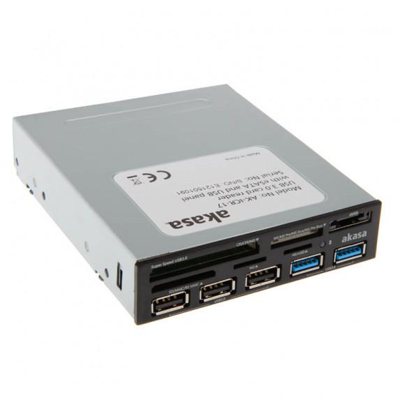 AKASA AK-ICR-17 Interner USB 3.0 5 ports - noir