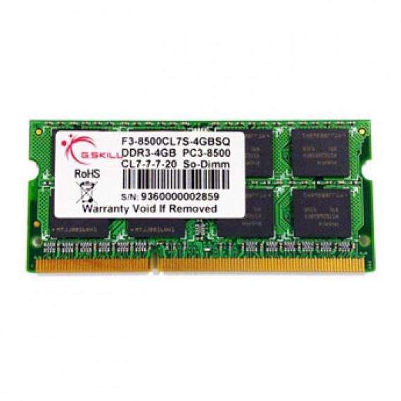 GSKILL SODIMM 4 Go DDR3-SDRAM PC3-8500