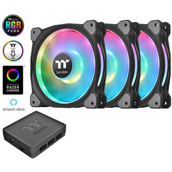 THERMALTAKE Duo Riing 12 RGB LED fan - 120mm Set of 3