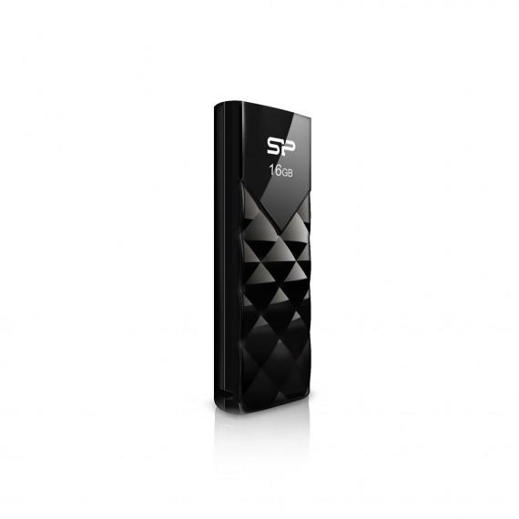 SILICON POWER CLE USB  U03 16GB PLASTIC NOIRE USB 2.0 SP016GBUF2U03V1K