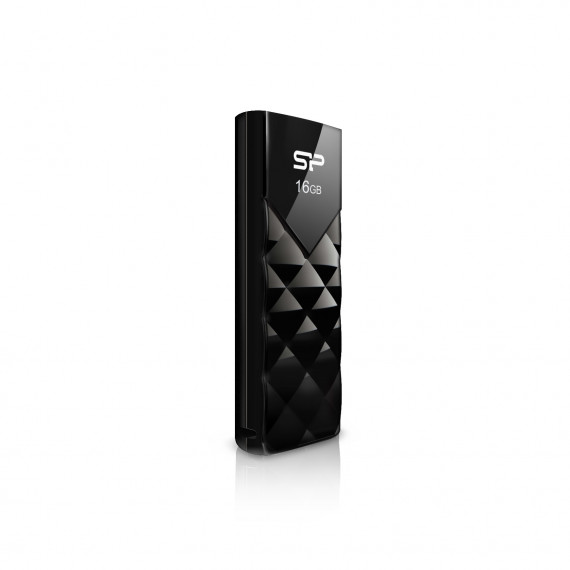 SILICON POWER CLE USB  U03 32GB PLASTIC NOIRE USB 2.0 SP032GBUF2U03V1K