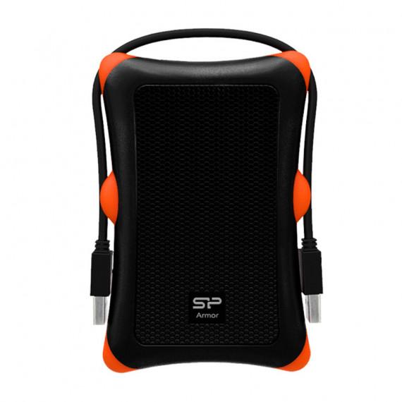 SILICON POWER Silicon Power boîtier pour disque dur externe renforcé avec câble USB 3.0 (noir / orange)