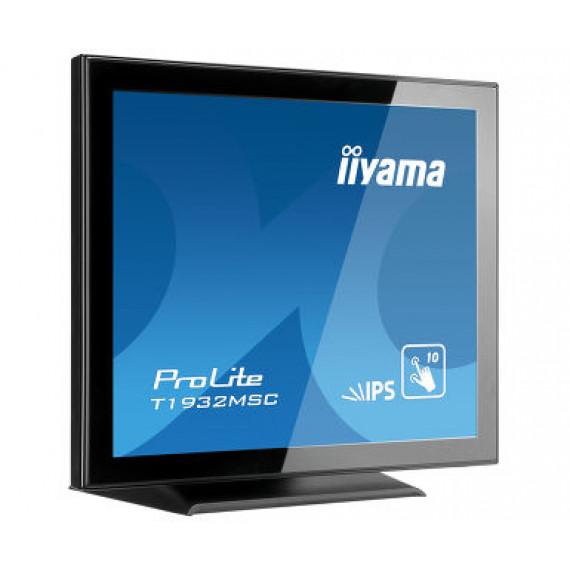 """IIYAMA 19"""" Tactile PCAP, version dalle anti-reflet, conception sans cadre, 10 points, 1280x1024, Haut-parleurs, VGA, HDMI, DP, 250cd/m2, 1000:1, 5ms, USB (interface), Bloc d'alimentation interne, VESA 100, Multi points uniquement si supporté par lOS"""
