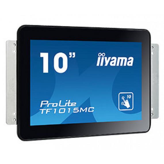 """IIYAMA 10"""" Tactile PCAP, conceptions en verre sans cadre, 10 points, 1280x800, VGA, HDMI, DisplayPort, 500cd/m2, 800:1, 25ms, USB (interface),  Bloc d'alimentation externe, VESA 100, Multi points uniquement si supporté par lOS, Open Frame, Équipé de suppo"""