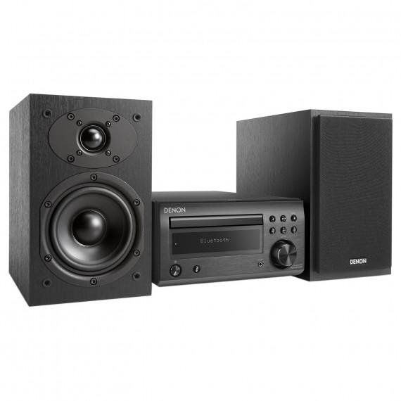 DENON Denon D-M41 DAB Noir/Noir - Micro-chaîne Hi-Fi 2 x 30 Watts avec lecteur CD/CD-R/CD-RW, tuner FM/DAB/DAB+ et Bluetooth