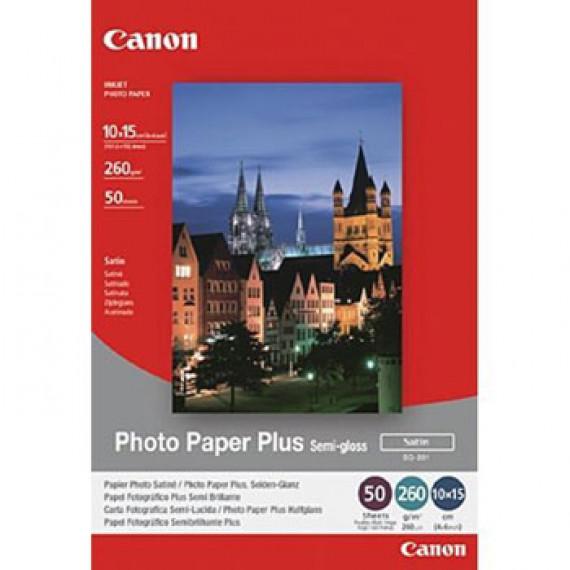 CANON SG-201 - Papier Photo Satiné, 260g/m² (10 x 15 cm, 50 feuilles)