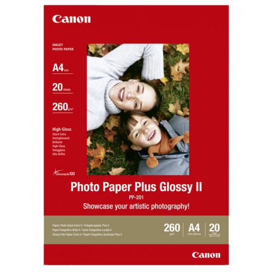 CANON PP-201 - Papier Photo, 260g/m² (A4, 20 feuilles)