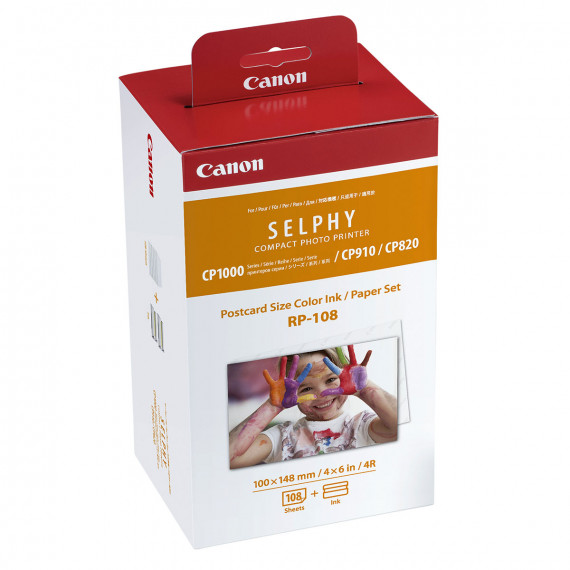 CANON RP-108 - Encre Couleur / Kit Papier photo 100 x 148 mm - 108 tirages