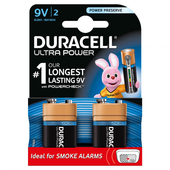 Duracell Ultra Power 9V (par 2)