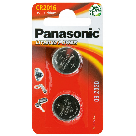PANASONIC Lithium Knopfzelle CR-2016L/2BP