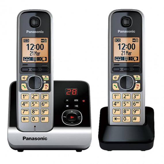 Panasonic KX-TG6722 Téléphones Sans fil Répondeur Ecran