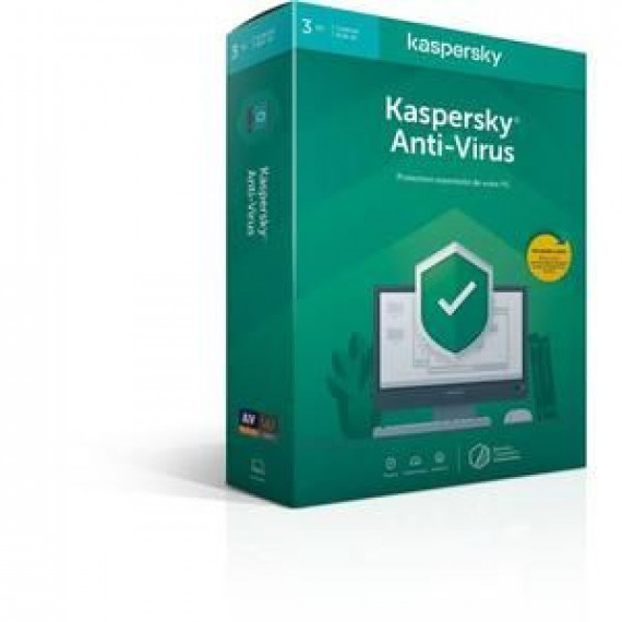 KASPERSKY Anti-Virus 2020 3 Postes 1 an
