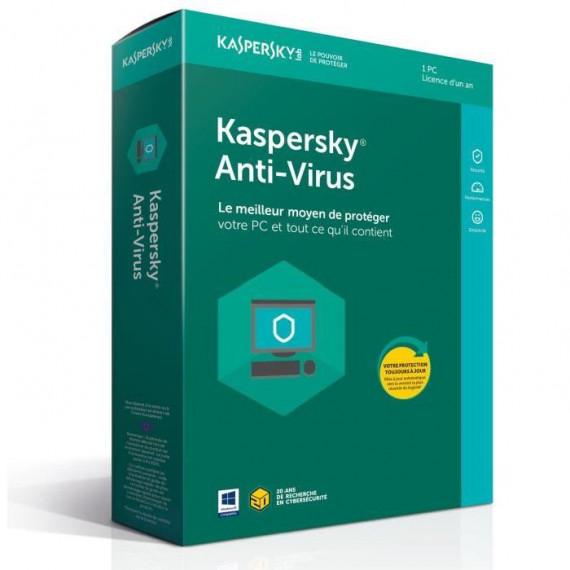 KASPERSKY Kaspersky Anti-Virus 2018 - Licence 1 an 1 poste - Antivirus - Licence 1 an 1 poste  (français, WINDOWS)