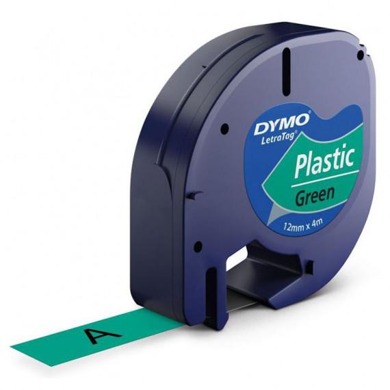 DYMO LetraTAG Ruban d'Étiquettes Noir/Vert
