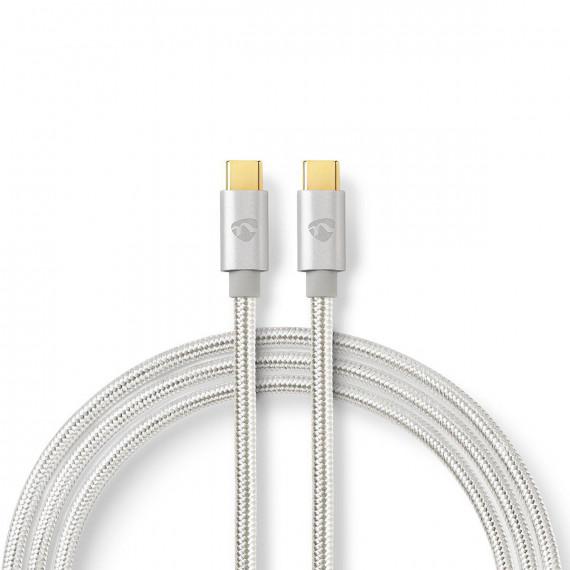 Nedis Câble USB 2.0 Type-C Mâle - Type-C Mâle 3,0 m Aluminium