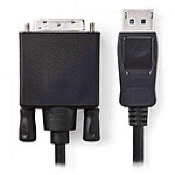 Nedis Câble DisplayPort vers DVI DisplayPort Mâle - DVI-D Mâle à 24 + 1 Broches 1,0 m Noir