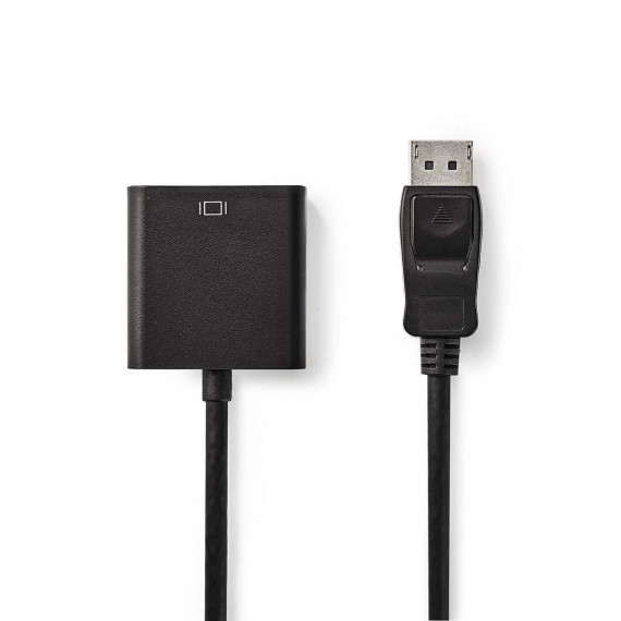 Nedis Câble DisplayPort vers DVI DisplayPort Mâle - DVI-D Femelle à 24 +1 Broches 0,2 m Noir