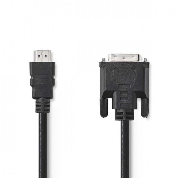 Nedis Câble HDMI™ vers DVI Connecteur HDMI™ - DVI-D Mâle à 24 + 1 Broches 2,0 m Noir
