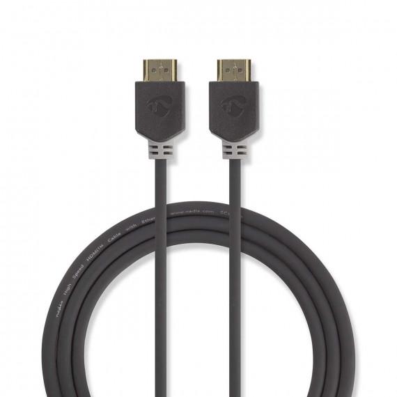Nedis Câble HDMI™ Haute Vitesse avec Ethernet Connecteur HDMI™ - Connecteur HDMI™ 1,0 m Anthracite