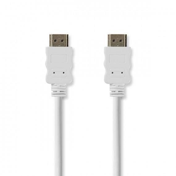 Nedis Câble HDMI™ Haute Vitesse avec Ethernet Connecteur HDMI™ - Connecteur HDMI™ 2,0 m Blanc