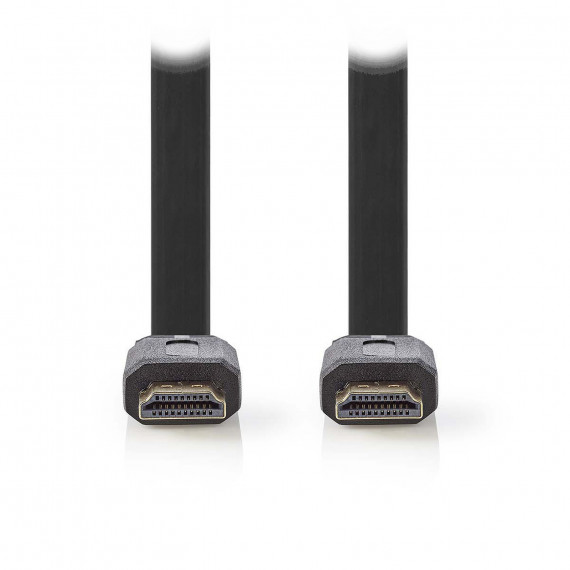 Nedis Nedis Câble HDMI plat haute vitesse avec Ethernet Noir (10 mètres)
