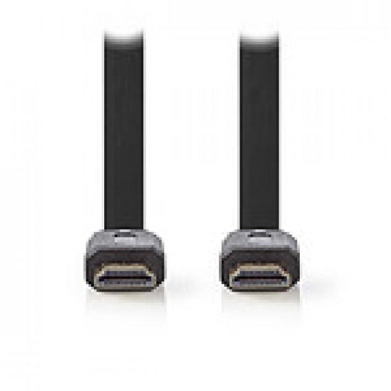 Nedis Nedis Câble HDMI plat haute vitesse avec Ethernet Noir (1.5 mètre)