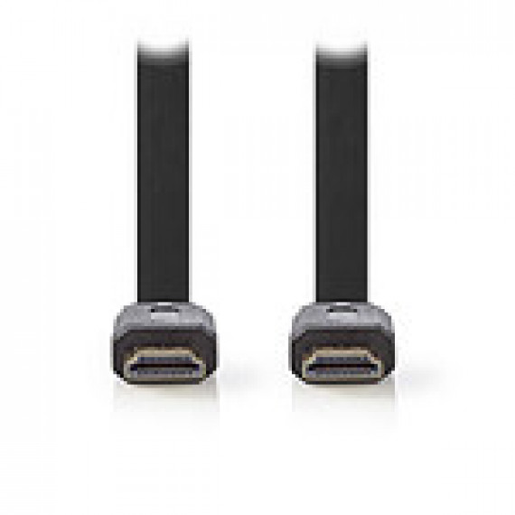 Nedis Nedis Câble HDMI plat haute vitesse avec Ethernet Noir (2 mètres)