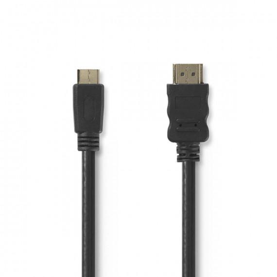 Nedis Nedis Câble Mini HDMI mâle / HDMI mâle haute vitesse avec Ethernet Noir (2 mètres)