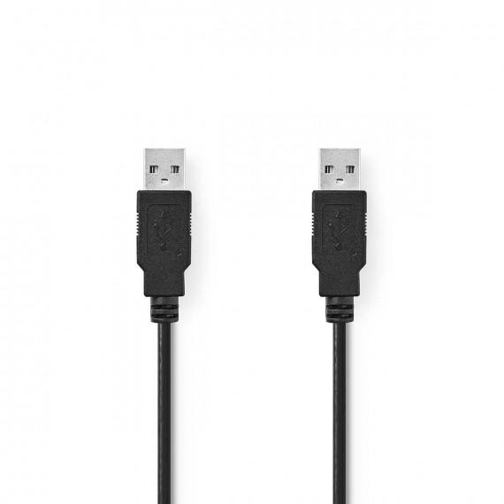 Nedis Câble USB 2.0 A Mâle - A Mâle 1,0 m Noir
