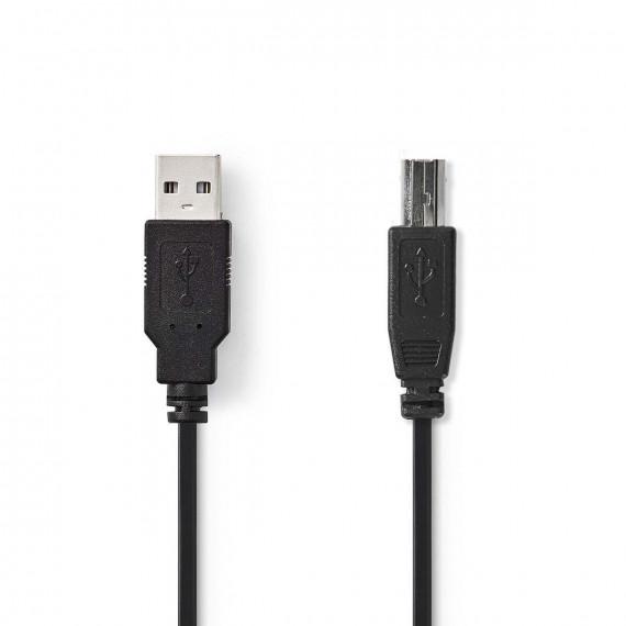 Nedis Câble USB 2.0 A Mâle - B Mâle 0,5 m Noir