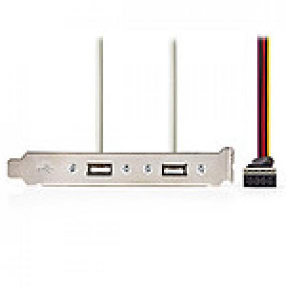 Nedis Nedis Equerre slot pour 2 ports USB 2.0