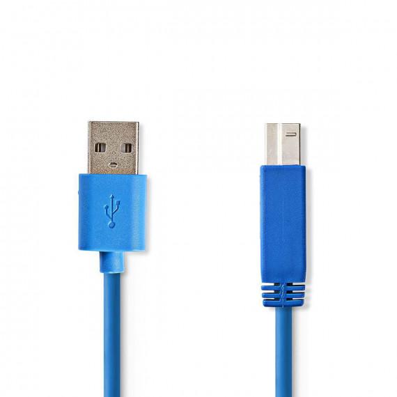 Nedis Câble USB 3.0 A Mâle - B Mâle 3,0 m Bleu