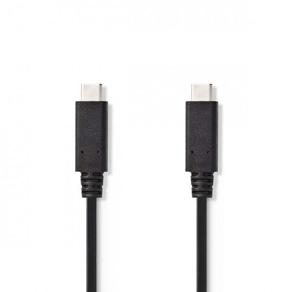 Nedis Câble USB 3.1 (Gen2) Type-C Mâle - Type-C Mâle 1,0 m Noir