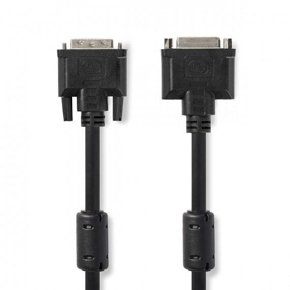 Nedis Câble DVI DVI-I Mâle à 24 + 5 Broches - DVI-I Femelle à 24 +5 Broches 2,0 m Noir