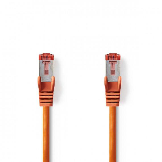 Nedis Câble Réseau Cat 6 S/FTP RJ45 Mâle - RJ45 Mâle 0,25 m Orange