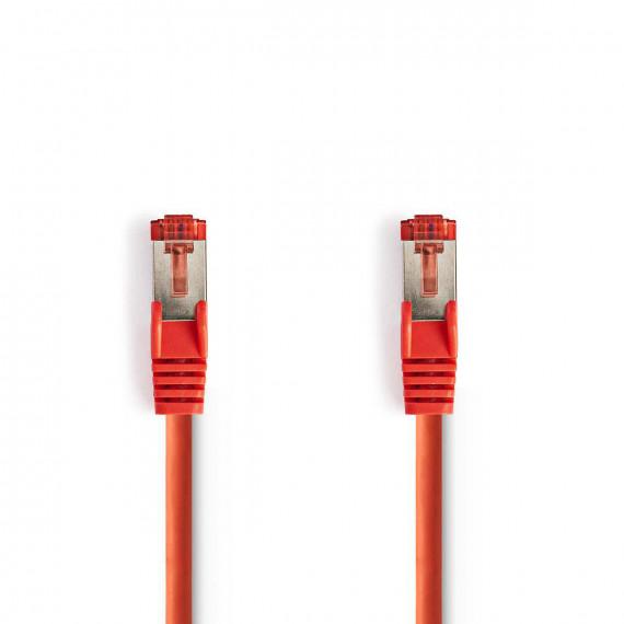 Nedis Câble Réseau Cat 6 S/FTP RJ45 Mâle - RJ45 Mâle 1,5 m Touche rouge