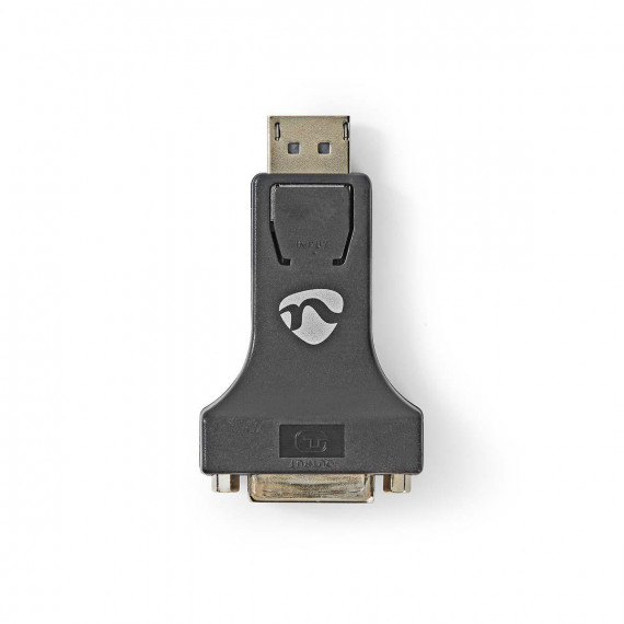 Nedis Adaptateur DisplayPort vers DVI DisplayPort Mâle - DVI-I Femelle à 24 +5 Broches Noir