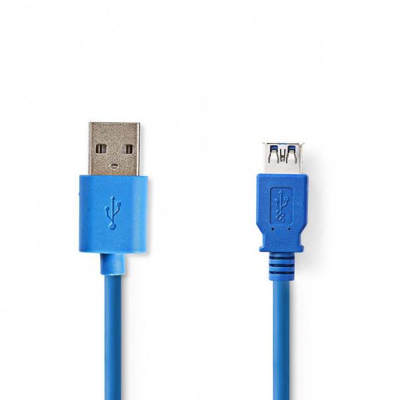 Nedis Câble USB 3.0 A Mâle - A Femelle 2,0 m Bleu