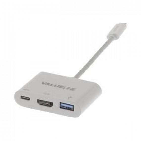 Nedis Valueline Adaptateur vidéo externe USB-C HDMI blanc