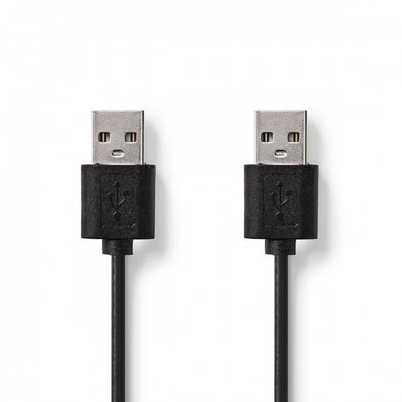 Nedis Câble USB 2.0 A Mâle - A Mâle 1,00 m Noir