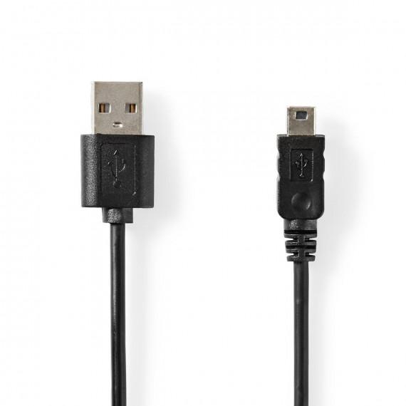 Nedis Câble USB 2.0 A Mâle - Mini Mâle à 5 Broches 2,0 m Noir