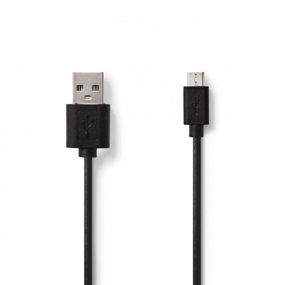 Nedis Câble USB 2.0 A Mâle - Micro B Mâle 1,0 m Noir