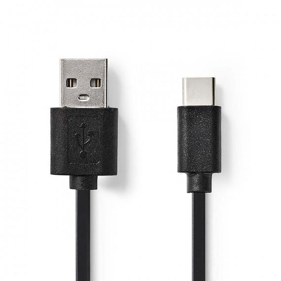 Nedis Câble USB 2.0 Type-C Mâle - A Mâle 2,0 m Noir