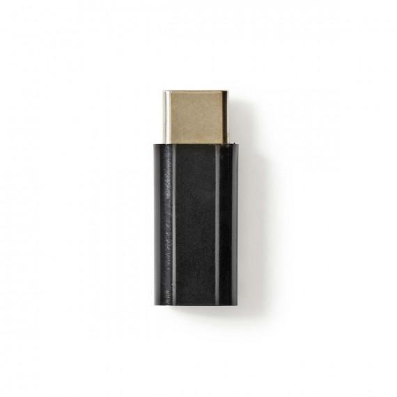Nedis Adaptateur USB 2.0 Type-C Mâle - Micro B Femelle Noir