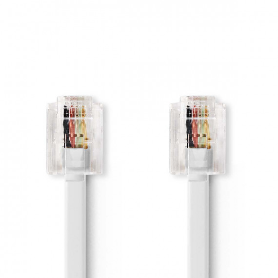 Nedis Câble de Télécommunications RJ11 Mâle - RJ11 Mâle 2,0 m Blanc